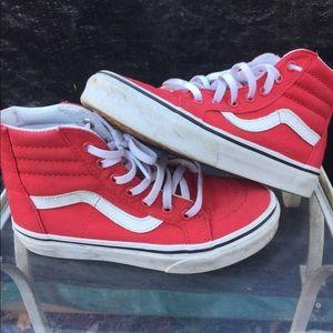 Red vans hi-tops